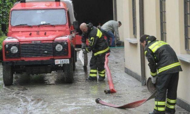 Maltempo, la situazione sta ritornando alla normalità ma sono decine le chiamate ai Pompieri di Alessandria per cantine allagate