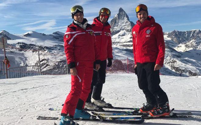 Tre giovani talenti di Imperia sono passati dal mare alle nevi delle Alpi e insegnano sci