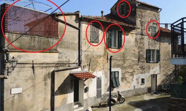 A Diano Serreta 12 migranti saranno ospitati al primo piano di questo immobile: nelle stanze in rosso con un bagno guasto e da riparare