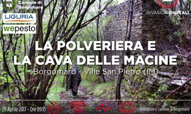 """Un'occasione per conoscere e visitare la Polveriera Valle Impero a Borgomaro grazie alle """"Invasioni digitali."""" Iscrivetevi"""