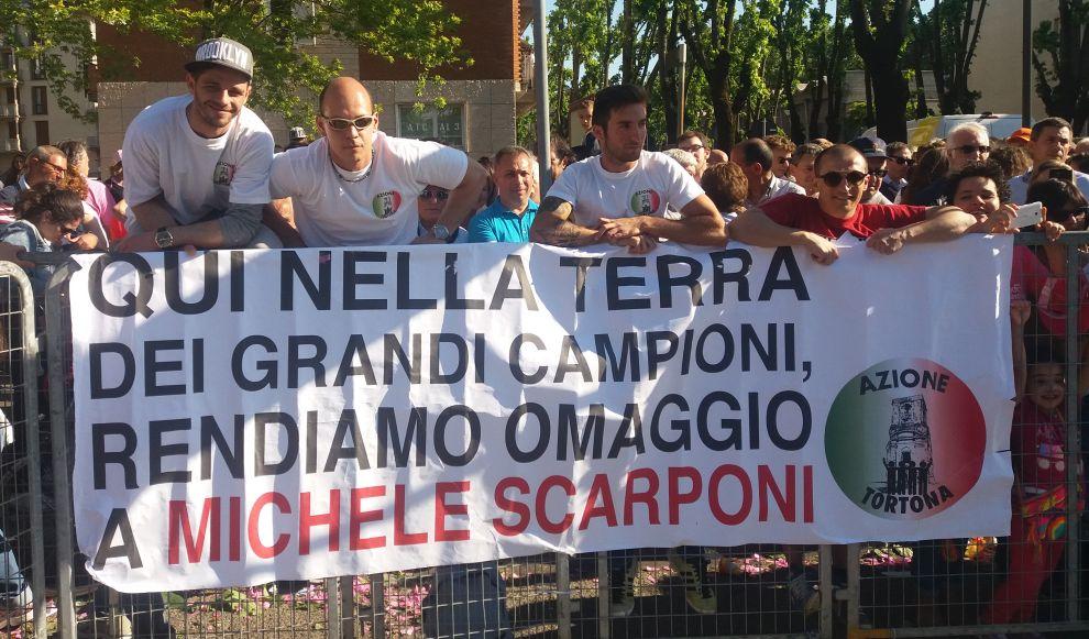 Azione Tortona omaggia Michele Scarponi al giro d'Italia