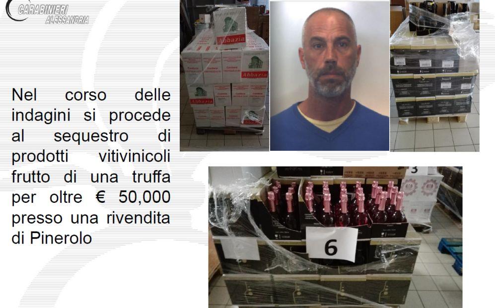I carabinieri di Acqui Terme scoprono una maxi truffa di vino e generi alimentari, quattro italiani nei guai