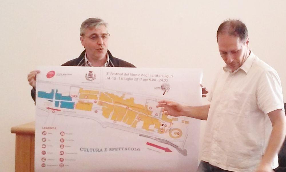 Il dianese Luca Valentini coordina il Festival del Libro, presentato da Angelo Giudici di Atene edizioni in programma a luglio
