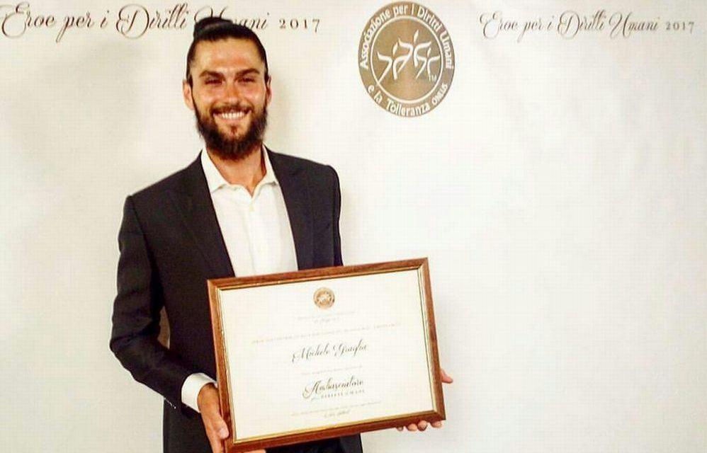 """Taggia, Michele Graglia premiato come  """"Ambasciatore dei diritti umani"""""""