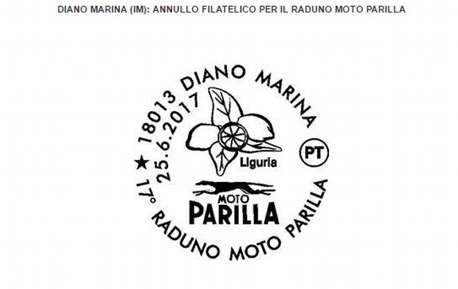 Diano marina, le Poste viste l'importanza, domenica fanno un annullo filatelico per il raduno Parilla