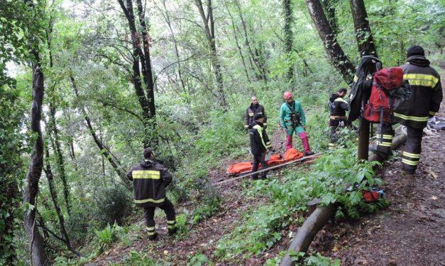 Giovane 18enne vola dal dirupo e finisce in un bosco a Montemarzino. I pompieri si fanno strada nella vegetazione per un Km e mezzo