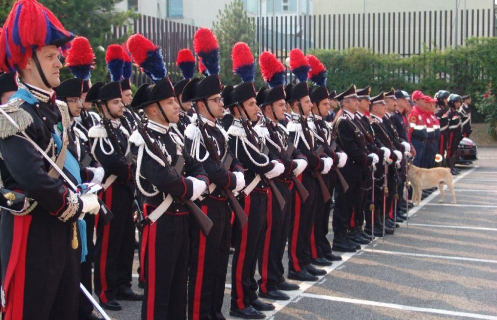 Imperia durante la festa dell'Arma premiati i carabinieri che si sono distinti in operazioni pericolose./I nomi