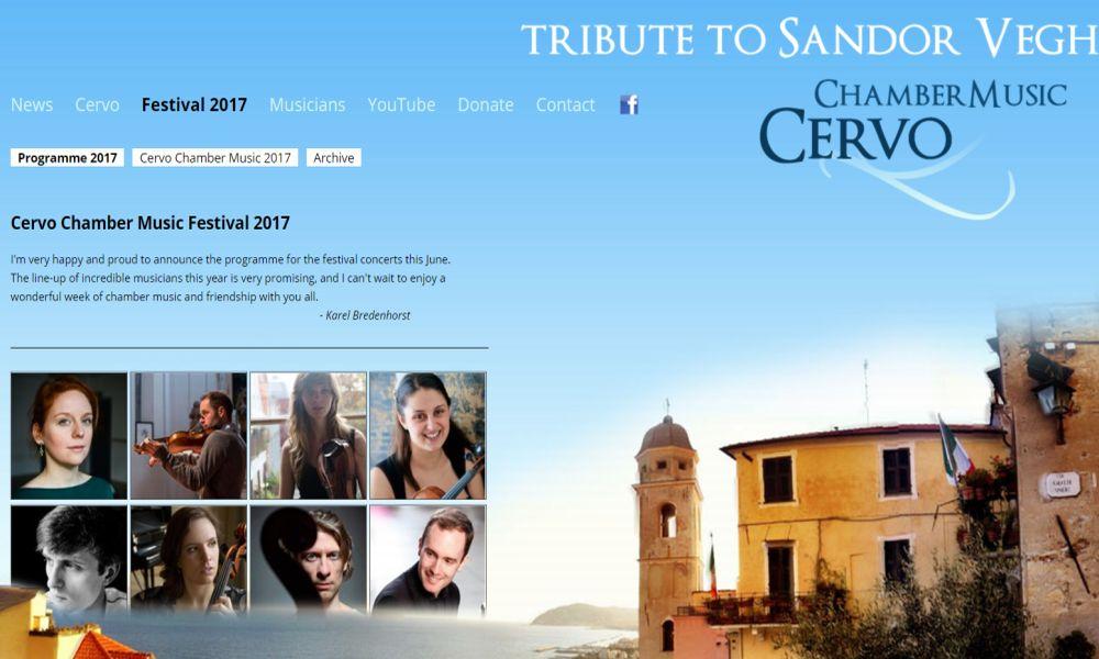 Week end dedicato alla musica classica a Cervo con tre concerti della Cervo Chamber Music