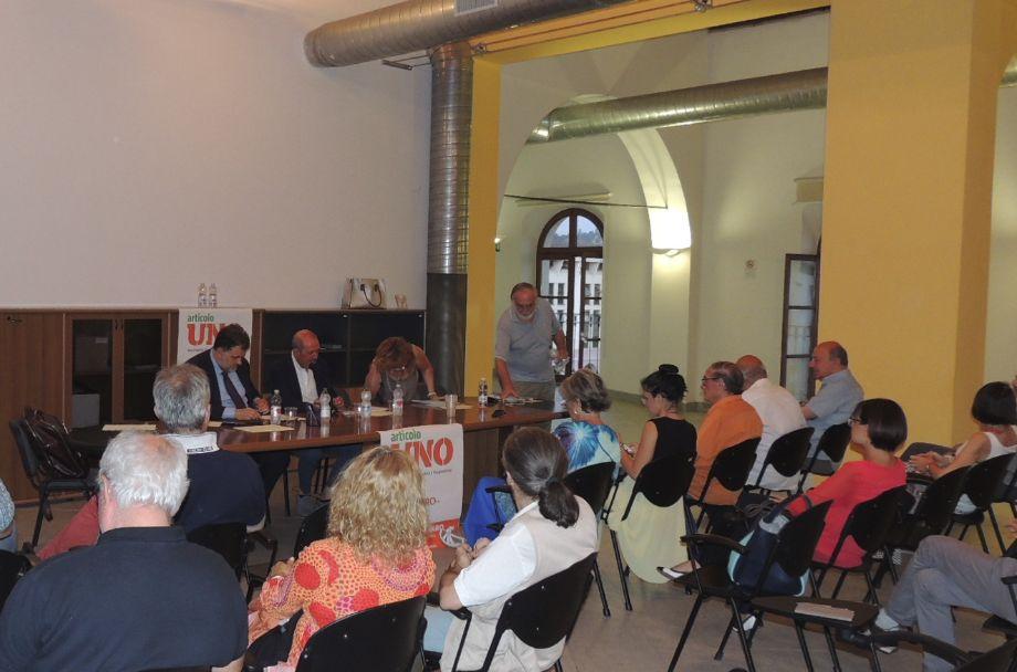 """A Tortona presentato il Movimento di Bersani """"Articolo Uno"""" di fronte ad un folto pubblico. Illustrati gli obiettivi"""