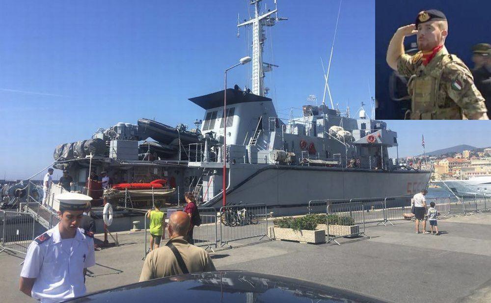A Sanremo è arrivata una nave militare che si può visitare. E' comandata dal sanremese Daniele D'Alessio/Le immagini