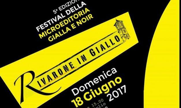 """Domenica torna il festival della microeditoria  """"Rivarone in giallo"""""""