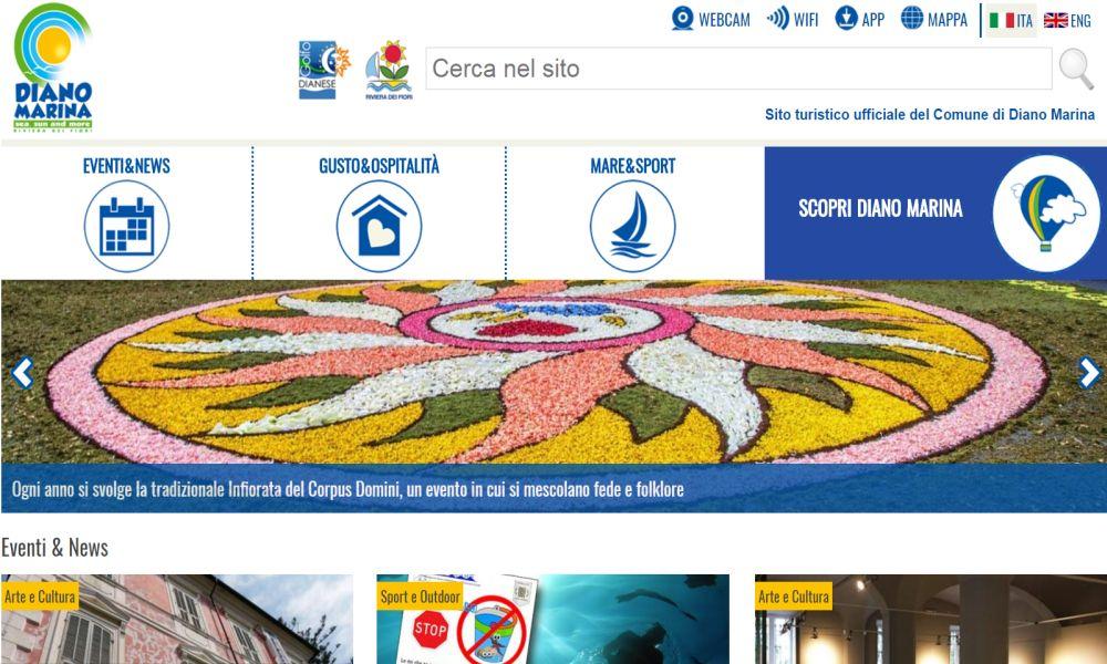 Ecco il nuovo sito turistico ufficiale di Diano marina, c'è di tutto: ospitalità divertimenti, attrazioni, social e altro. Scopritelo