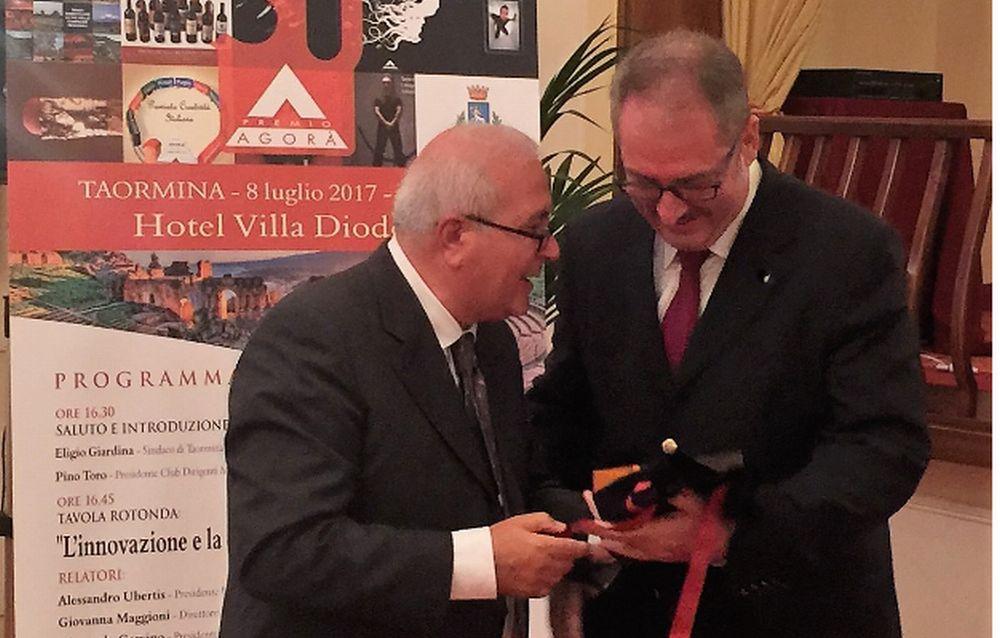 Allo studio Federico Crespi & Associati di Sanremo l'Agorà di Platino