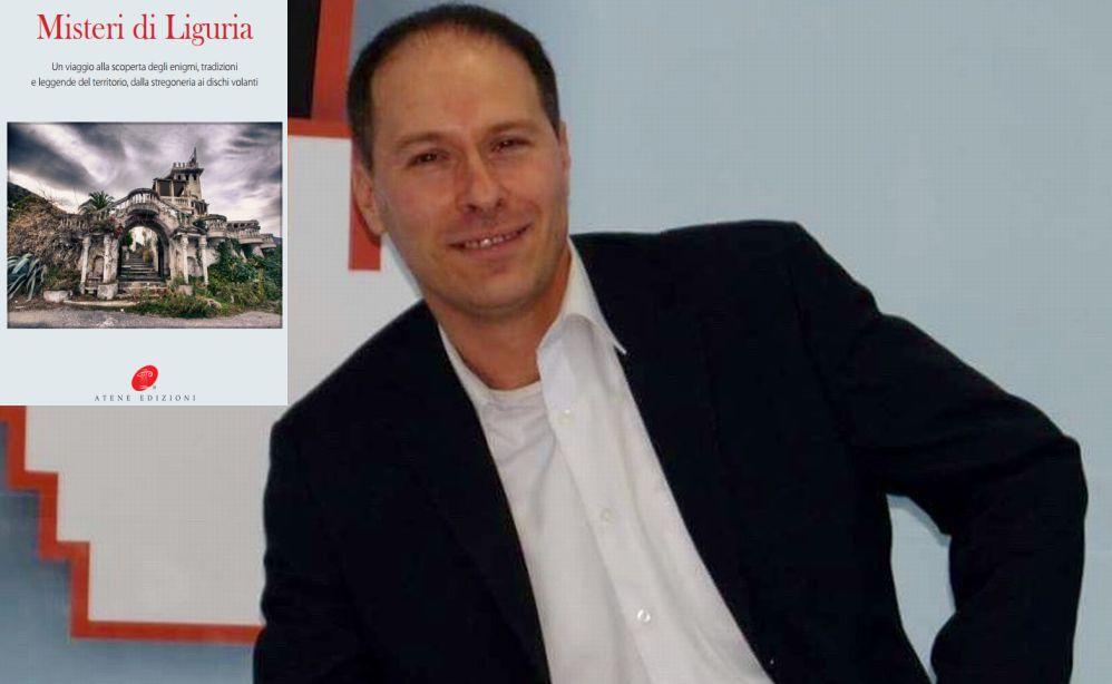 """Sabato il dianese Luca Valentini gioca in casa e presenta il suo libro """"Misteri di Liguria"""" alla Mondadori di via Roma"""