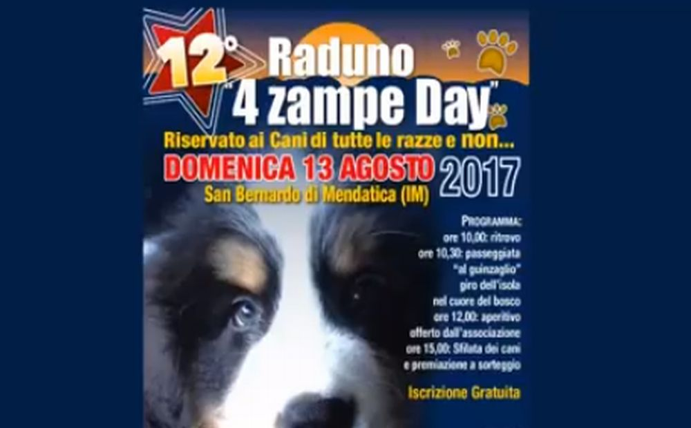 """A San Bernardo di Mendatica domenica c'è """"4 zampe day"""" portate i vostri animali e vi divertirete anche voi"""