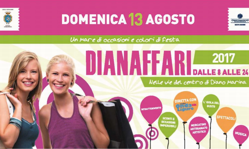 """A Diano Marina torna """"DianAffari"""" con musica, balli, danza del ventre, giochi per bambini e shopping nel centro"""