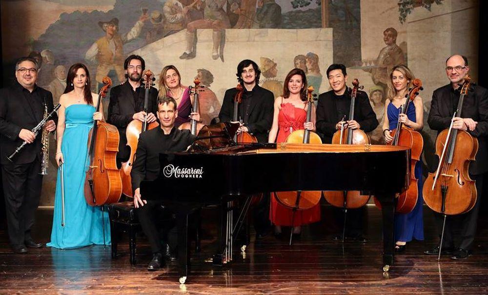 Mercoledì a Sanremo i Dodecacellos in concerto col tortonese Andrea Albertini