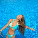 Una manifestazione alla piscina di Bordighera