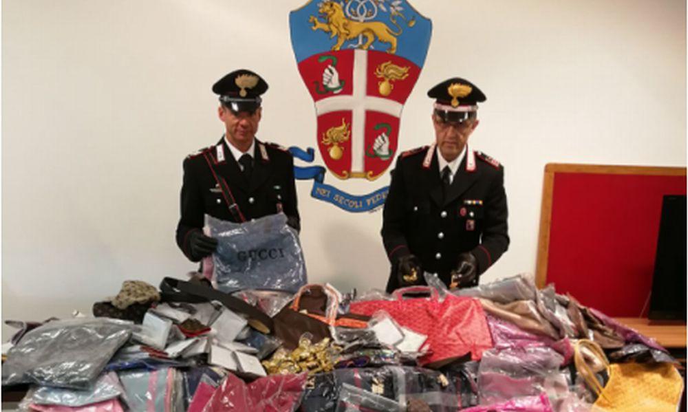 blitz dei Carabinieri al mercato di Sanremo, un arresto e sequestrati centinaia di capi  contraffatti