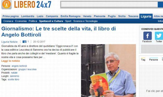 """Il nostro Direttore su """"Libero"""" e """"Liguria notizie"""" presenta il suo libro """"Le Tre scelte della vita"""""""