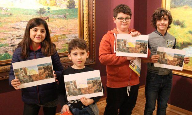 Le immagini di genitori e bambini che hanno visitato recentemente la Pinacoteca della Fondazione Cassa di Risparmio di Tortona
