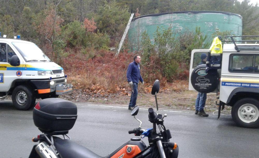 La protezione civile di Sanremo controlla il territorio e i ponti radio