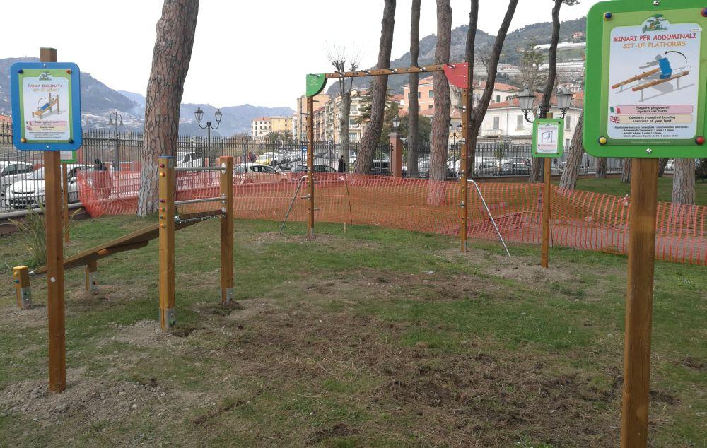 Pronto il percorso fitness ai Giardini di Ventimiglia