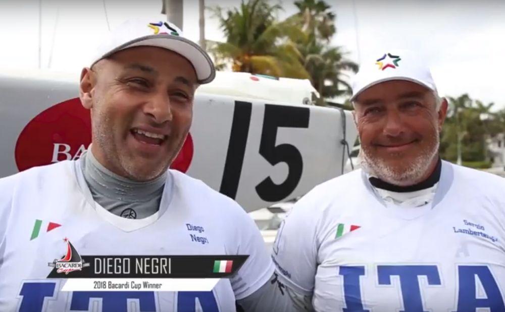 Memorabile successo del dianese Diego Negri che insieme a Lambertenghi conquista la Bacardi Cup a Miami. Primi italiani a farlo