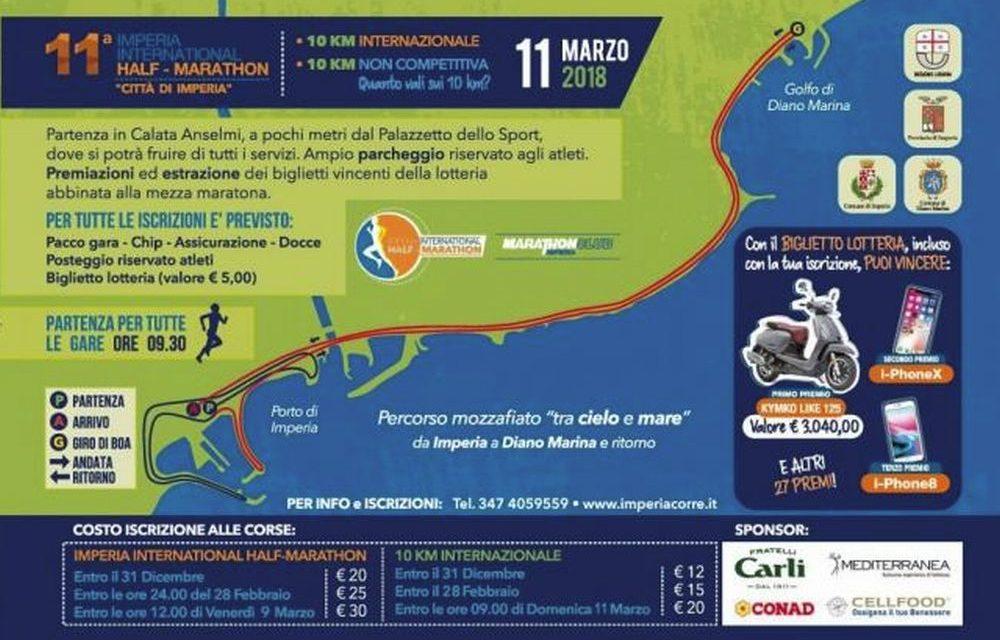 Domenica a Diano Marina c'è la Mezza maratona internazionale
