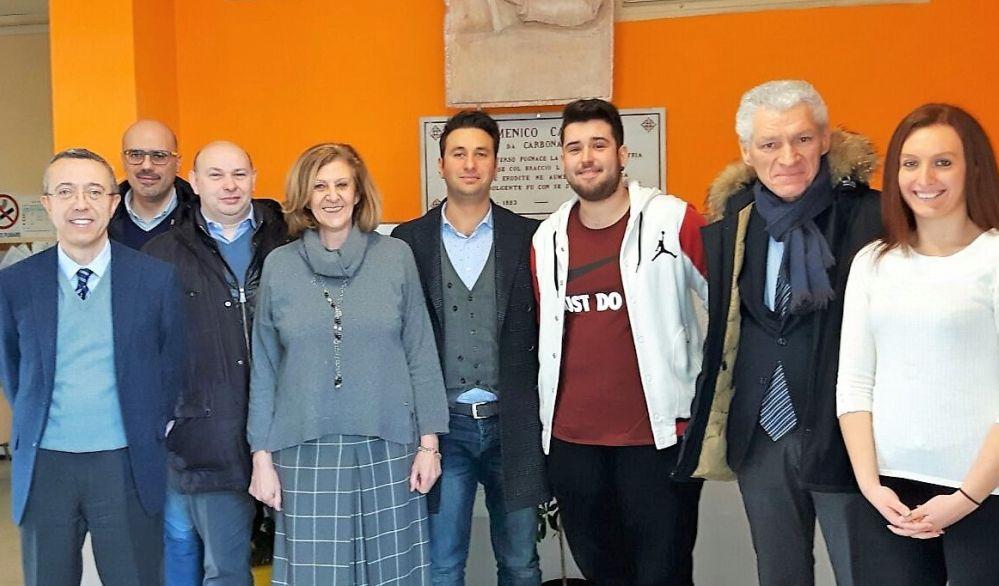 I rappresentanti della Provincia di Alessandria in visita all'Itis Marconi di Tortona