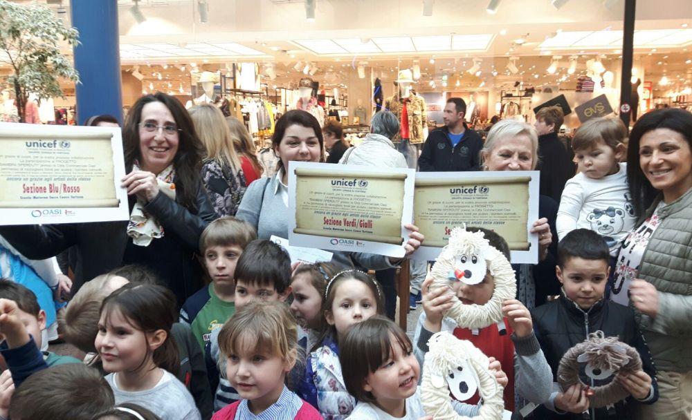 Al Centro Commerciale oasi di Tortona coinvolti 1.600 bambini, Raccolto più di 3 mila euro per beneficenza