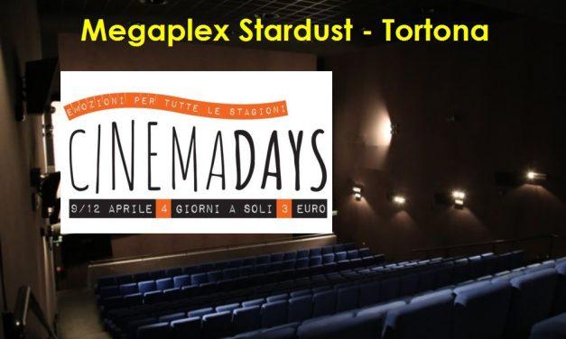 Ulteriori riduzioni al Megaplex Stardust di Tortona: i film solo 3 euro fino a domenica