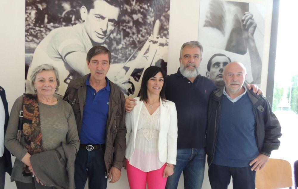Tortona rende omaggio a Fausto Coppi inaugurando un'esposizione di gigantografie alla presenza dei figli Faustino e Marina