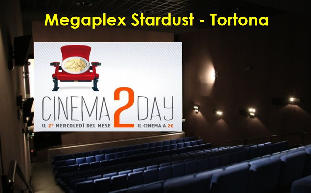 Mercoledì a Tortona si va al cinema con soli 2 euro a spettacolo dal pomeriggio. Non mancate!