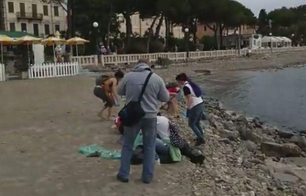 Con l'associazione Informare e la Croce Rossa pulita la spiaggia libera di Diano Marina