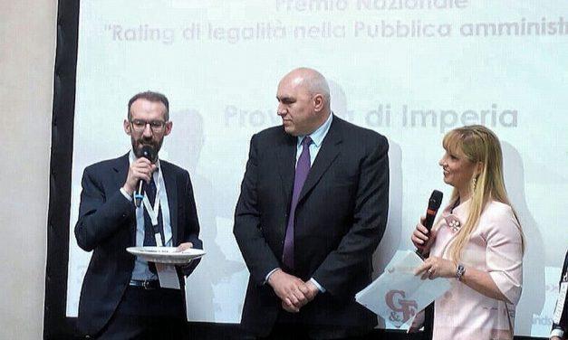 """La Provincia di Imperia vince il premio nazionale """"Rating di legalità"""""""