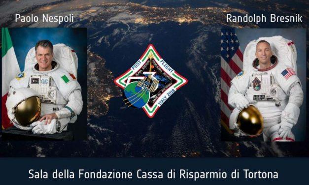 """Martedì a Tortona gli astronauti della Missione """"Expedition 53"""" incontrano i cittadini"""