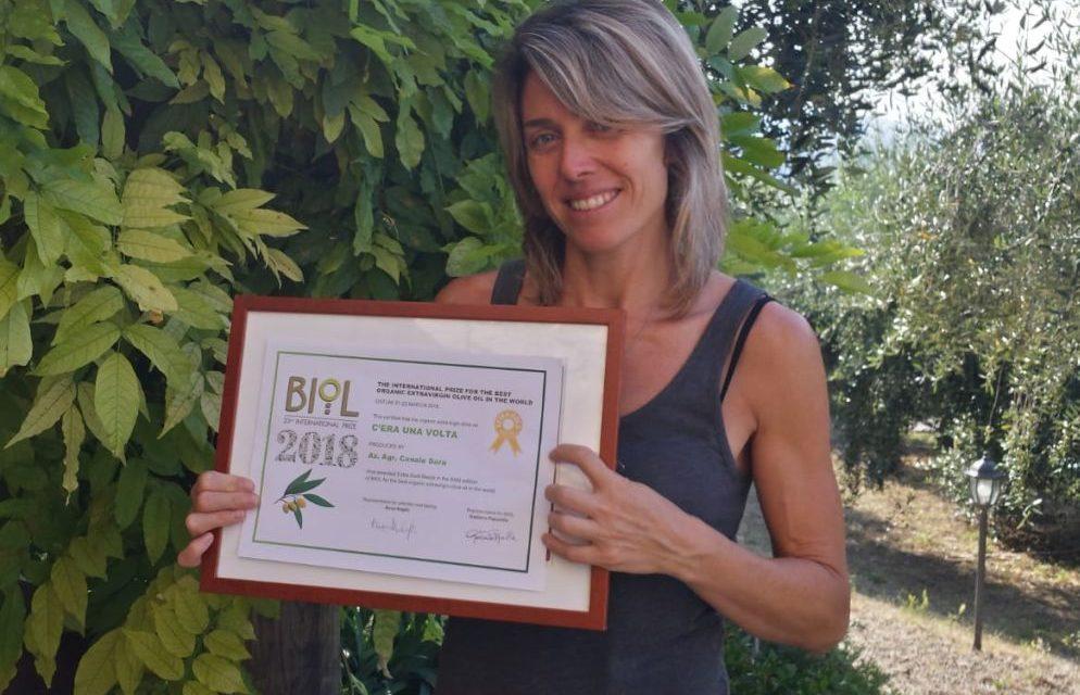 Sara Canale di Camporosso conquista il premio extragold con olio extravergine 100%taggiasco