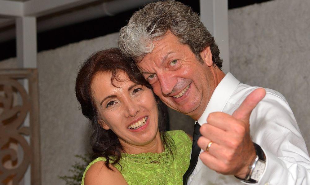 Il presentatore-musicista di Diano Marina, Roberto Guidarini si è sposato con Tiziana Naclerio