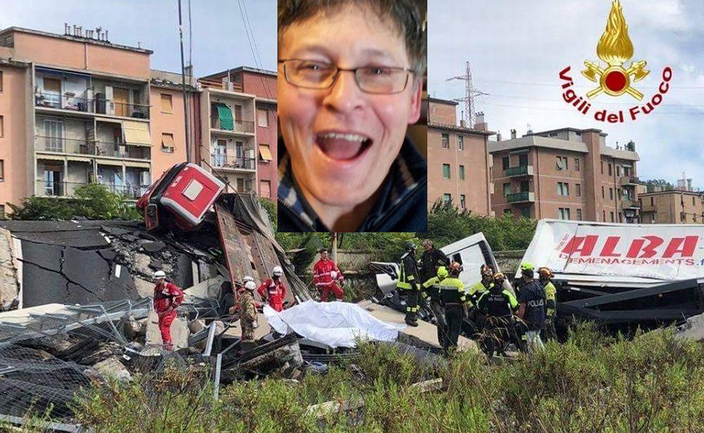 Il racconto di un tortonese che vola giù dal viadotto Morandi col camion ed esce miracolosamente illeso!!