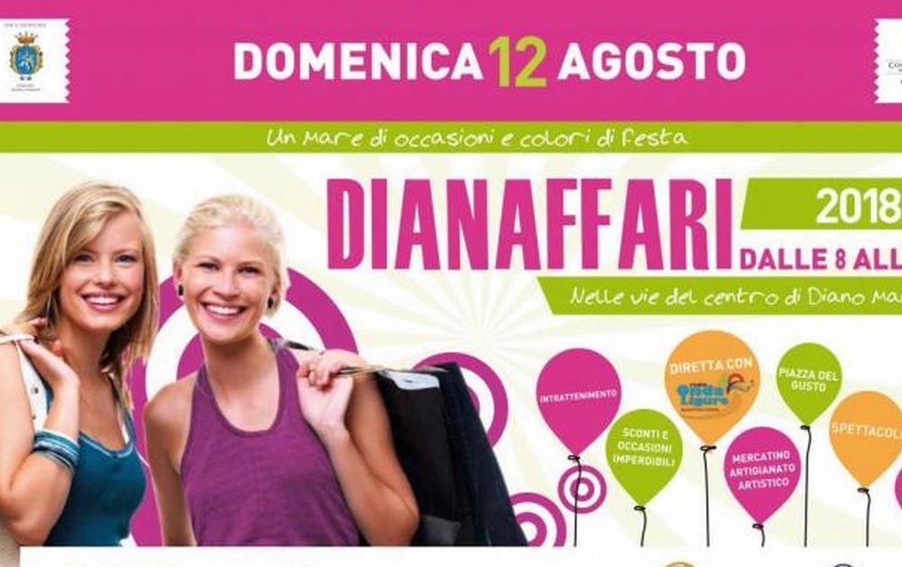"""Domenica per le vie di Diano Marina torna """"Dianaffari"""" la Giornata del Commercio"""