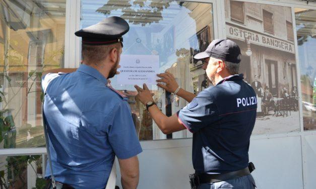 La Questura chiude l'osteria pizzeria Bandiera di Novi Ligure per 15 giorni