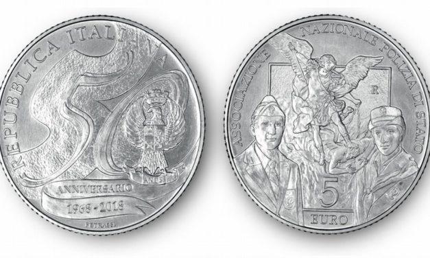Una moneta d'argento da 5 euro dedicata alla Polizia di Stato