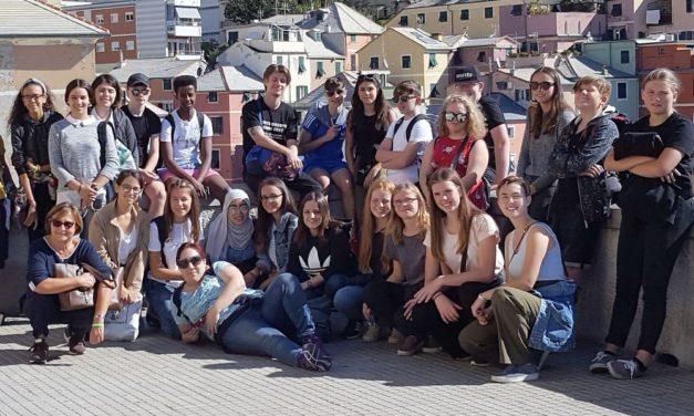 You ar't in Tortona con gli studenti del Marconi e i coetanei dall'Irlanda e dalla Danimarca. Le interviste