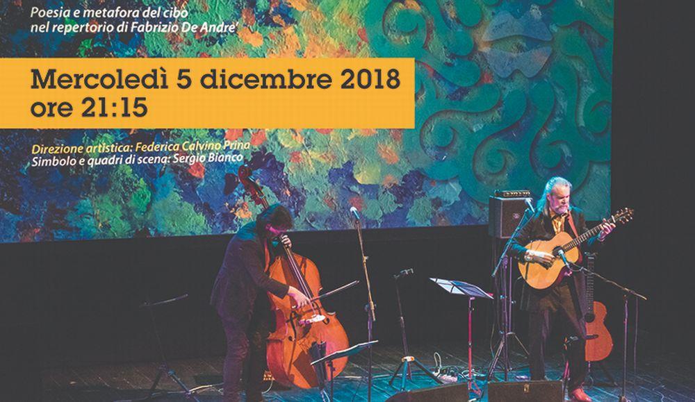 Concerto straordinario al Teatro Civico di Tortona con Beppe Gambetta che incontra Fabrizio De Andre'