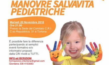 La Croce Rossa di Tortona insegna a tutti come salvare un bambino dal soffocamento