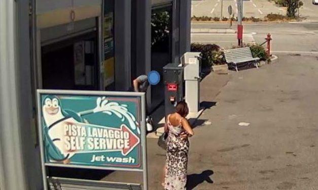 Incredibile ma vero, marito e moglie rubano questa pompa di autolavaggio nel casalese