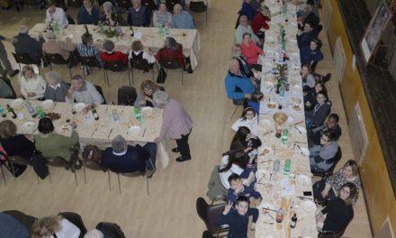 """A Pontecurone un riuscito pranzo per il restauro del  """"Cristo di Pietà"""" con ben 155 persone paganti"""