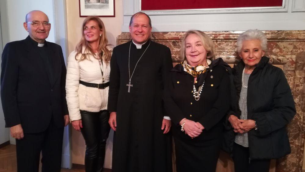 """Il vescovo di di Alessandria visita l'associazione """"Beata Maria Cristina di Savoia"""""""