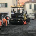 Diano Marina ha dato il via ai lavori di asfaltatura di via Cesare Battisti